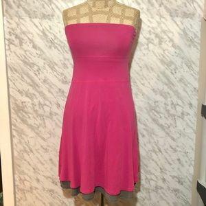 Lululemon Reversible Tube Dress Grey Pink Size 0